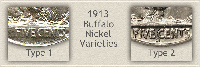 1913 Nickel Type I and Type II
