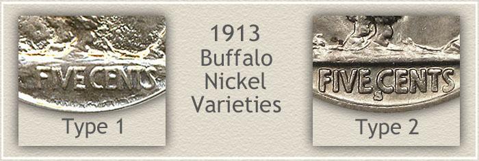 1913 Nickel Type I and Type II