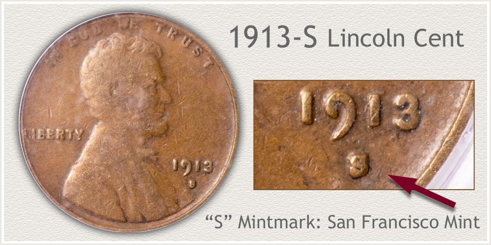 1913-S Lincoln Penny