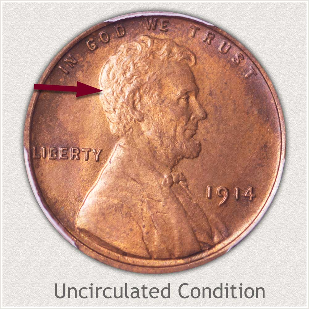 Uncirculated Grade 1914 Lincoln Penny