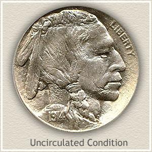 1914 Nickel Uncirculated Condition