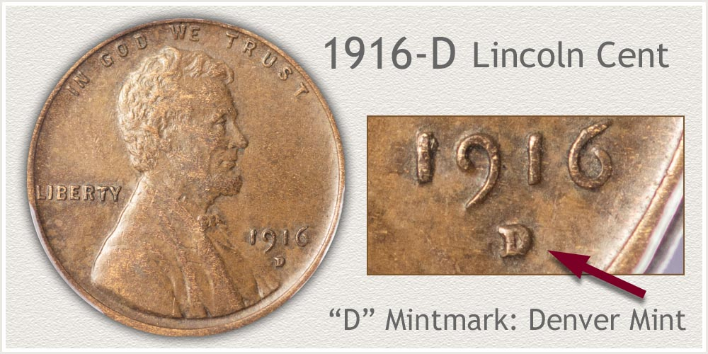 1916-D Lincoln Penny