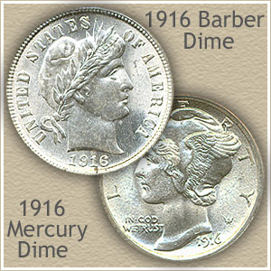 Uncirculated 1916 Dime Value