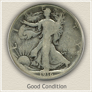 1916 Half Dollar Good Condition
