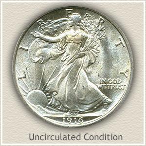 1916 Half Dollar Uncirculated Condition