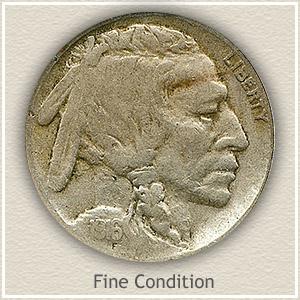 1916 Nickel Fine Condition