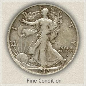 1917 Half Dollar Fine Conditon