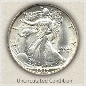 1917 Half Dollar Uncirculated Conditon