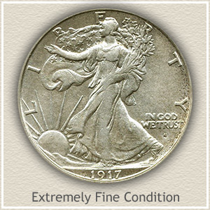 1917 Half Dollar Extremely Fine Conditon