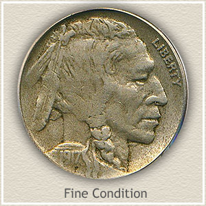 1917 Nickel Fine Condition
