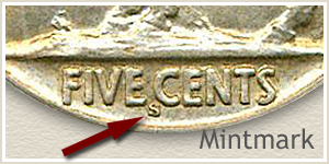 1917 Nickel S Mintmark Location