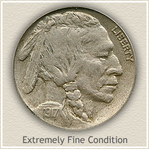1917 Nickel Extremely Fine Condition