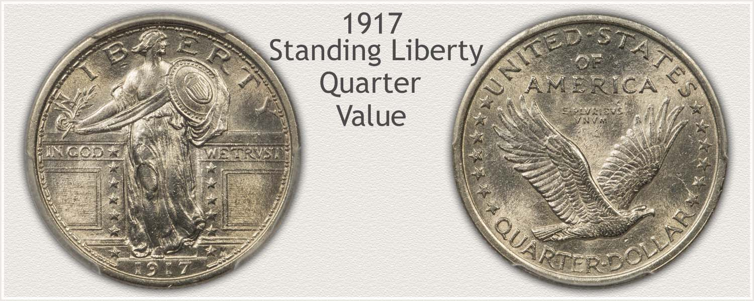1917 Quarter - Standing Liberty Series - Obverse and Reverse View