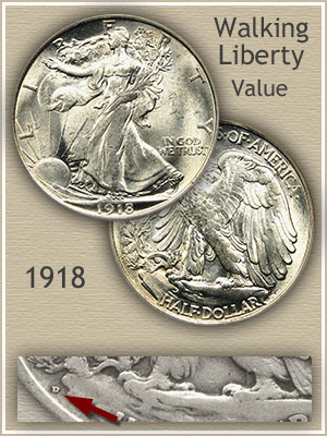 Uncirculated 1918 Half Dollar Value