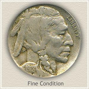 1918 Nickel Fine Condition