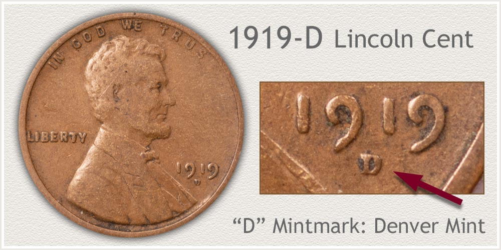 1919-D Lincoln Penny