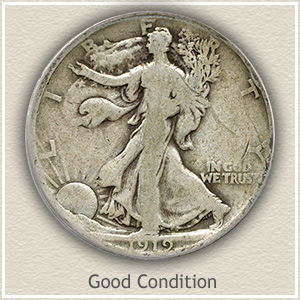 1919 Half Dollar Good Condition