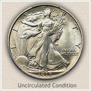 1919 Half Dollar Uncirculated Condition