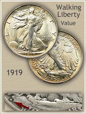 Uncirculated 1919 Half Dollar Value
