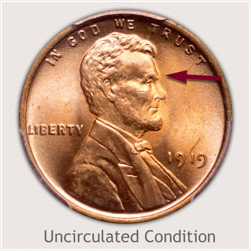 Uncirculated Grade 1919 Lincoln Penny
