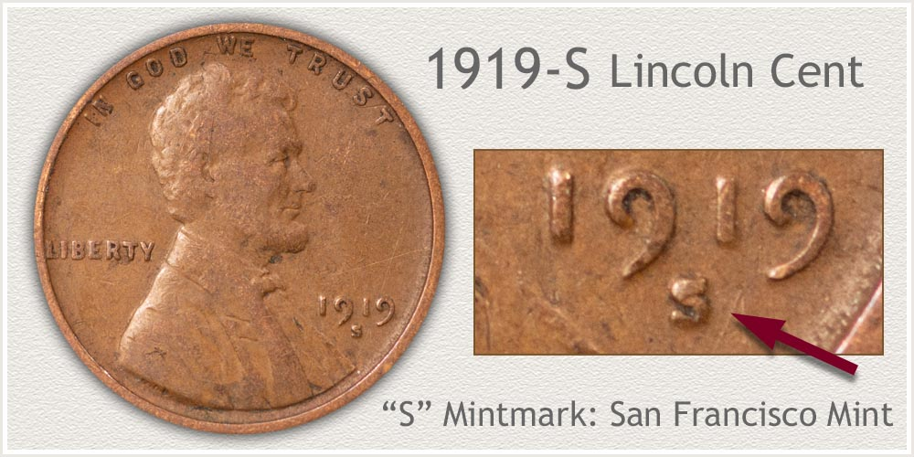1919-S Lincoln Penny