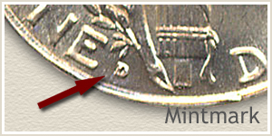 1920 Dime D Mintmark Location