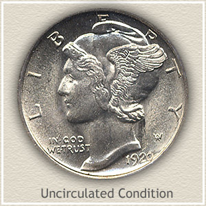 1920 Dime Uncirculated Condition
