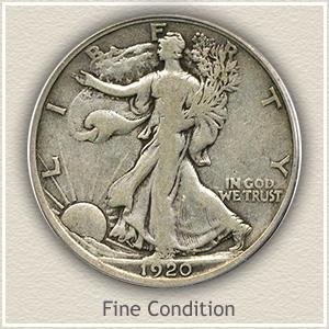 1920 Half Dollar Fine Condition
