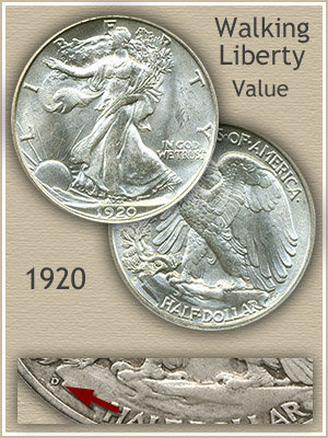Uncirculated 1920 Half Dollar Value
