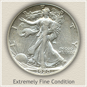 1920 Half Dollar Extremely Fine Condition