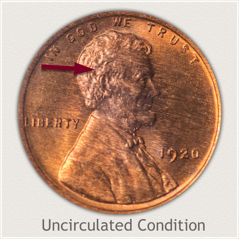 Uncirculated Grade 1920 Lincoln Penny