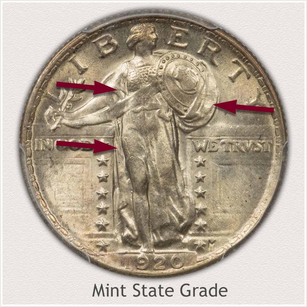 1920 Standing Liberty Quarter Mint State Grade