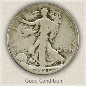 1921 Half Dollar Good Condition