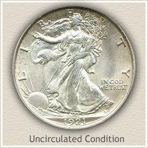 1921 Half Dollar Uncirculated Condition