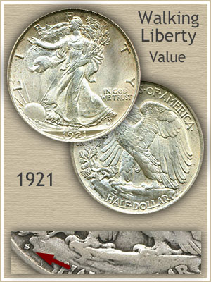 Uncirculated 1921 Half Dollar Value