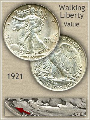 Uncirculated 1921 Half Dollar Value