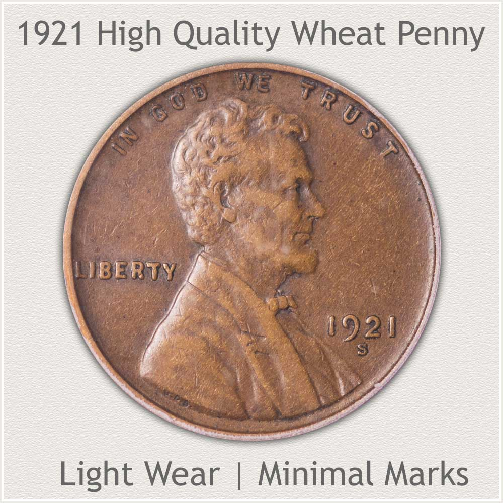 1921 High Quality Wheat Penny