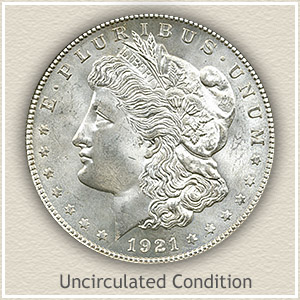 1921 Morgan Silver Dollar Uncirculated Condition