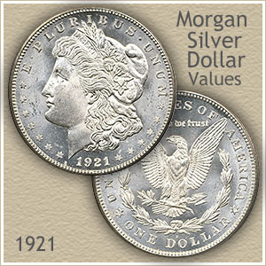 Uncirculated 1921 Morgan Silver Dollar Value