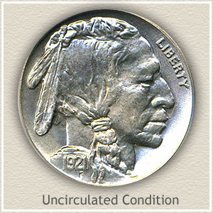 1921 Nickel Uncirculated Condition
