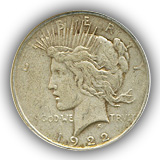 1922 Peace Silver Dollar Fine Condition