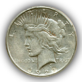 1922 Peace Silver Dollar Extremely Fine Condition
