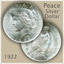Uncirculated 1922 Peace Silver Dollar Value