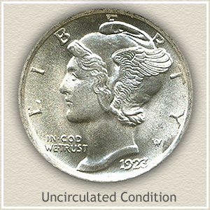 1923 Dime Uncirculated Condition