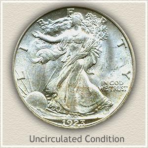 1923 Half Dollar Uncirculated Condition