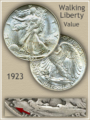 Uncirculated 1923 Half Dollar Value