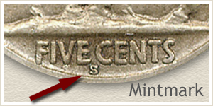 1923 Nickel S Mintmark Location
