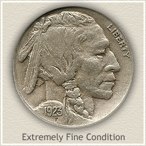 1923 Nickel Extremely Fine Condition