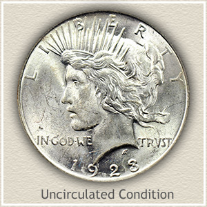 1923 Peace Silver Dollar Uncirculated Condition