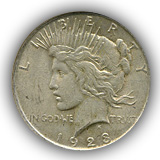 1923 Peace Silver Dollar Extremely Fine Condition